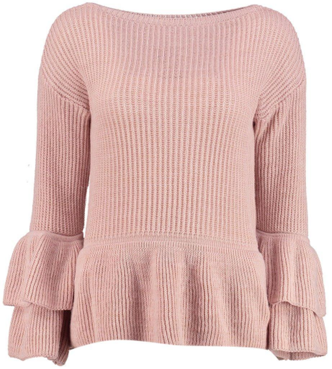 ruffled jumper