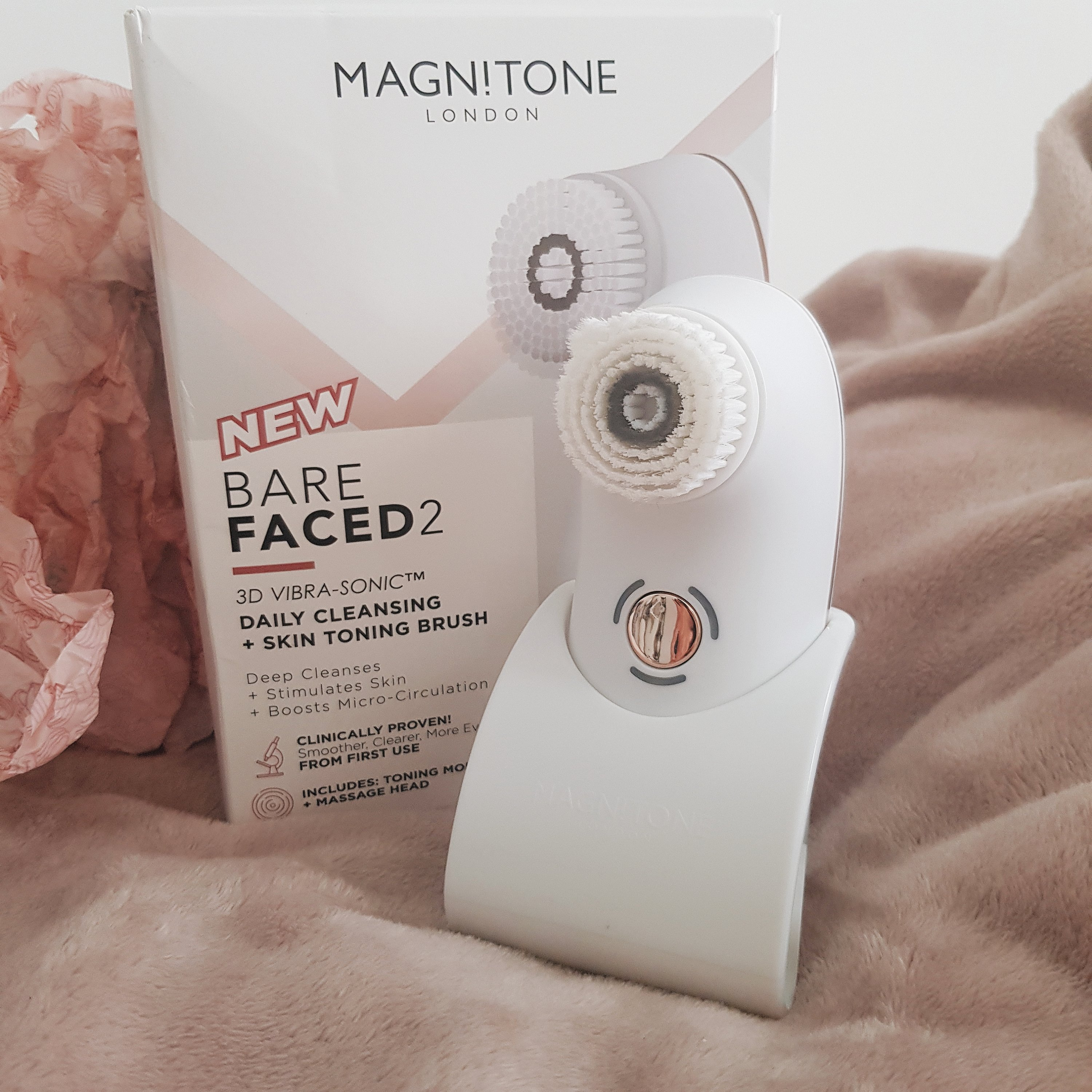 Magnitone Barefaced 2 3D Vibra-Sonic Cleansing and Toning Brush